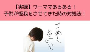 【実録】ワーママあるある! 子供が怪我をさせてきた時の対処法!
