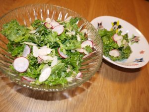 人気のキットオイシックスのケールサラダ