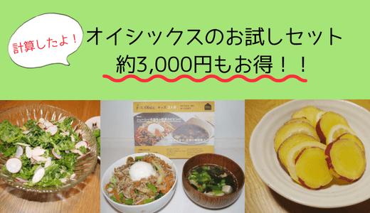 【購入者ブログ】オイシックスのお試しセットは総額3,000円お得!