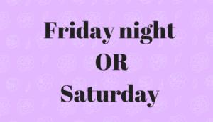 共働きの習い事は金曜日の夜か土曜日にしよう!