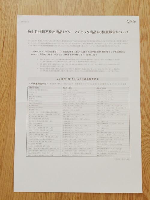 【オイシックスの安全性】放射能検査の基準値は国レベル!徹底的に検査中