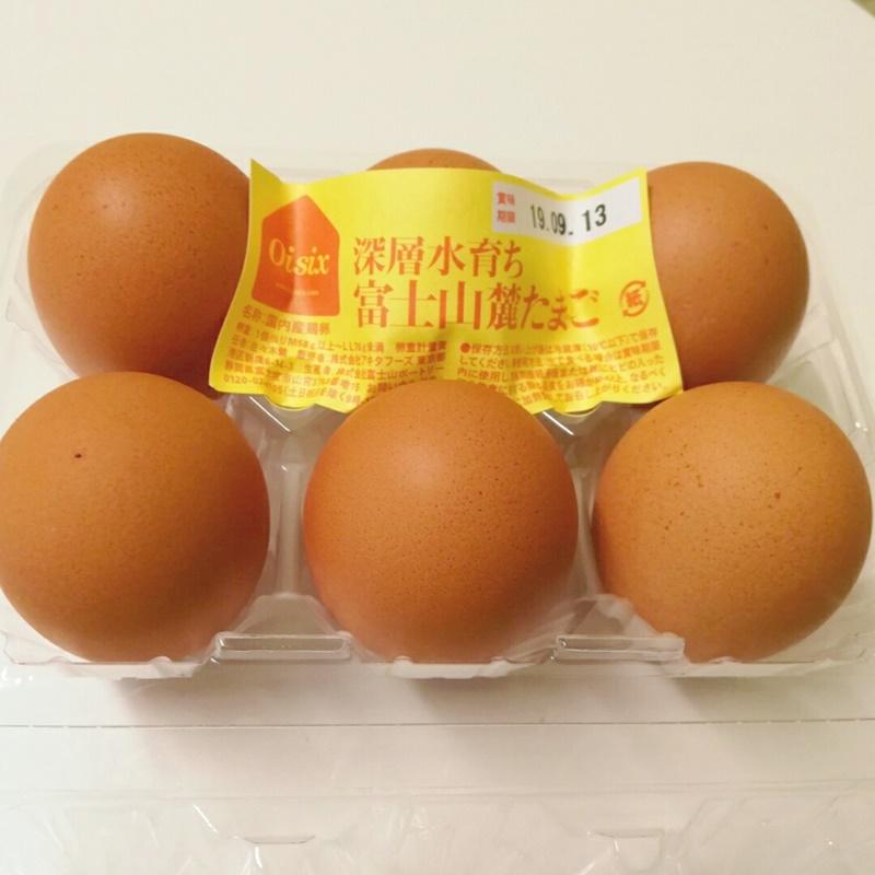 オイシックスの卵は黄身が濃い!富士山麓たまご
