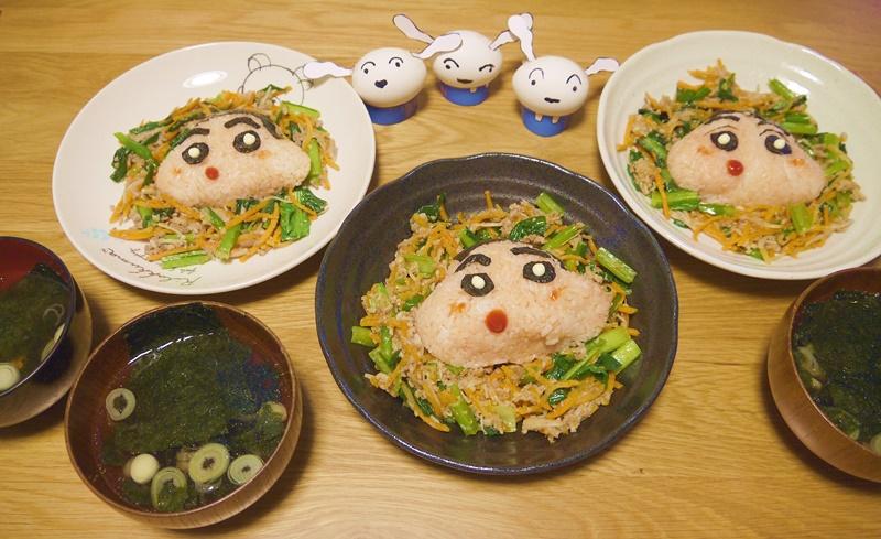 「そぼろビビンバ」と「長ネギとのり豆腐の韓国スープ」