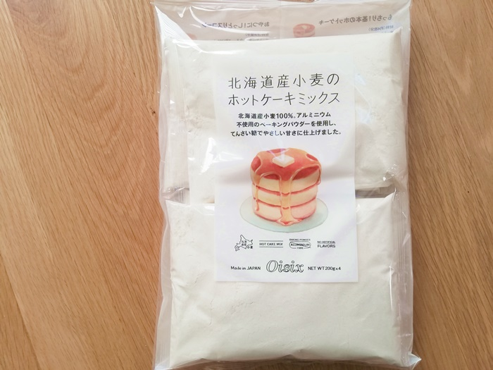 北海道産小麦のホットケーキミックス1