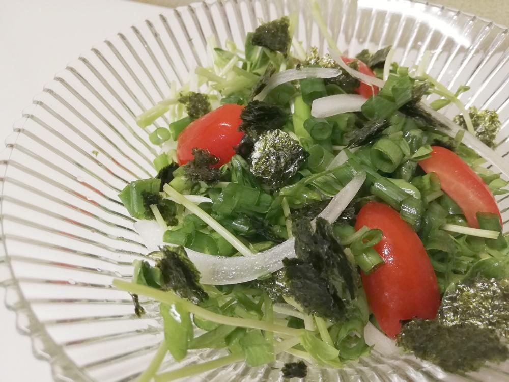 【キットオイシックス】リピ無し!シャキシャキ食感!豆苗のチョレギサラダ
