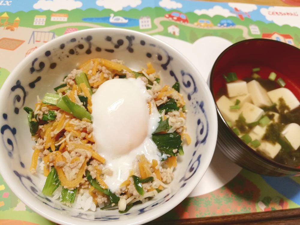 しまじろうとコラボミールキット!ビビンバと韓国風スープ④